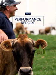 Dairy Australia Performance Report 2019/20 cover