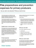 Fire Preparedness and Prevention Expenses for Primary Producers fact sheet cover